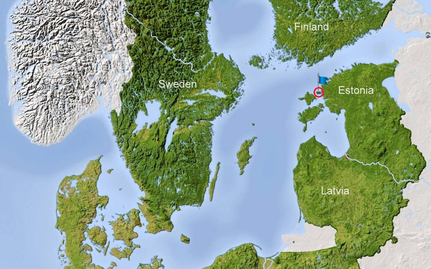 Location of Vormsi island